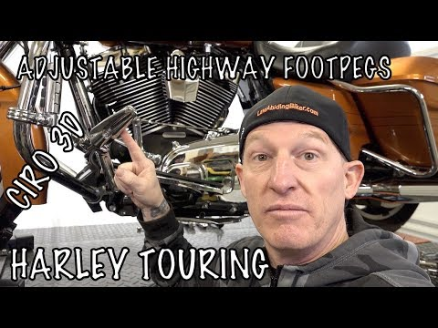 install-ciro-3d-adjustable-highway-footpeg-mounts-on-harley-&-review
