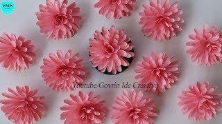 Very Easy Paper Flowers | Cara Mudah Membuat Bunga Hias Cantik dari Kertas