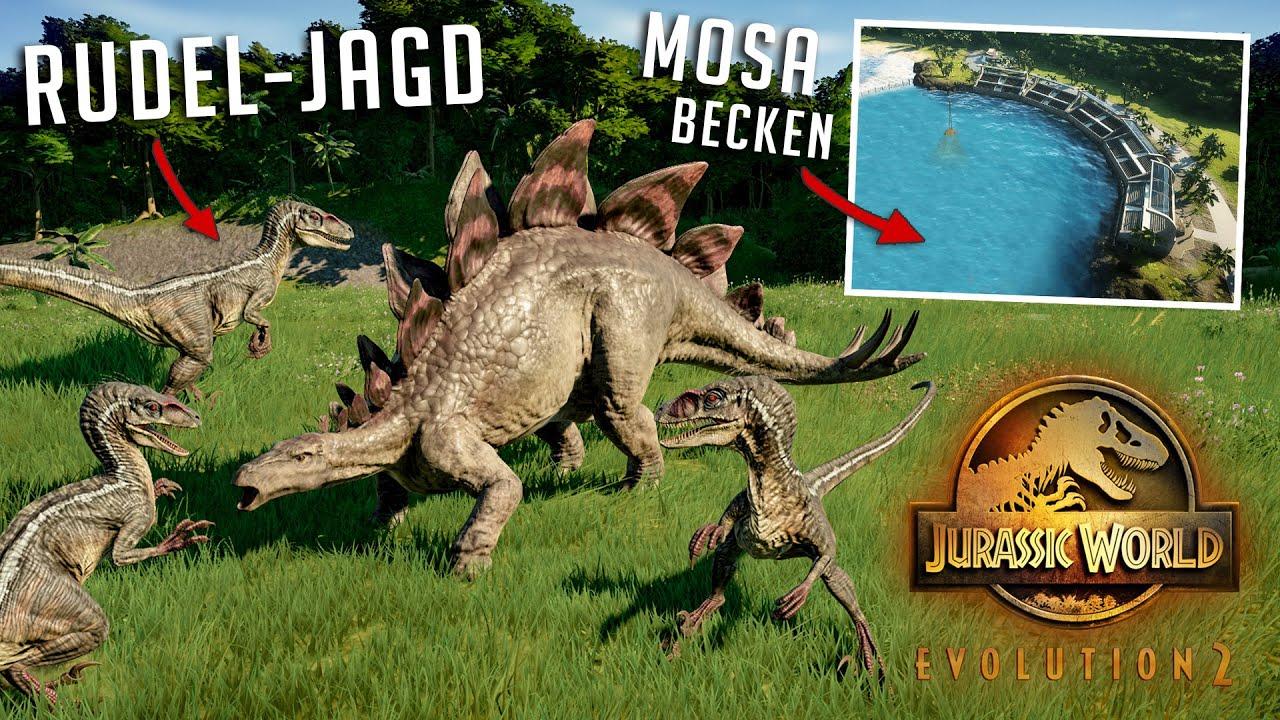 RAPTOREN JAGEN IM RUDEL! MOSA-BECKEN! ALLE INFOS  aus dem Dev Diary 1! - Jurassic World Evolution 2