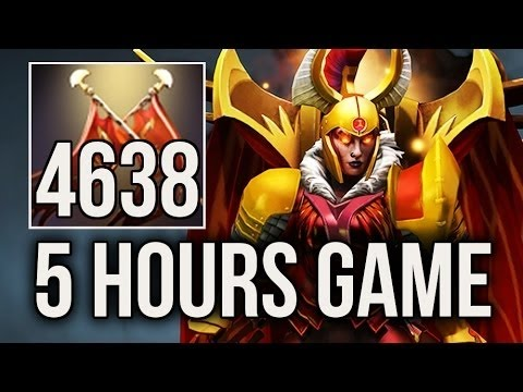 5 HOURS GAME +4600 Duel Damage Longest Match World Recorded EU Pub Dota 2
