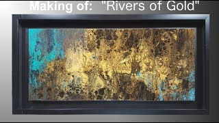 Making of 'Rivers of Gold' | Abstract | Acrylic | Time Lapse Painting