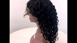 spicy hair 360 lace wig deep wave curly