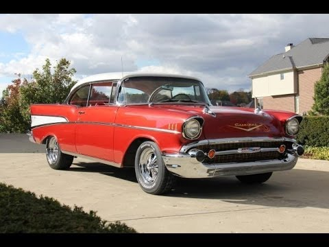 1957 Chevrolet Bel Air Test Drive Classic Muscle Car for Sale in MI Vanguard Motor Sales