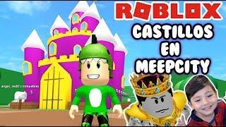 Castillos en MeepCity | Encontré al Rey | Meep City Roblox Roleplay