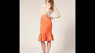 how to make a pencil skirt with ruffle
