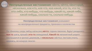 Русский 10 класс .Местоимение как часть речи как часть речи. Разряды местоимений