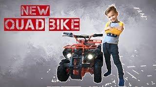 Марк купил новый квадроцикл, но он оказался маленький. Видео для детей.
