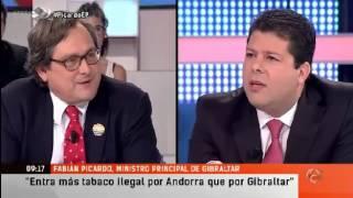 Chief Minister of Gibraltar Mr Fabian Picardo On Antena 3 on Espejo Publico