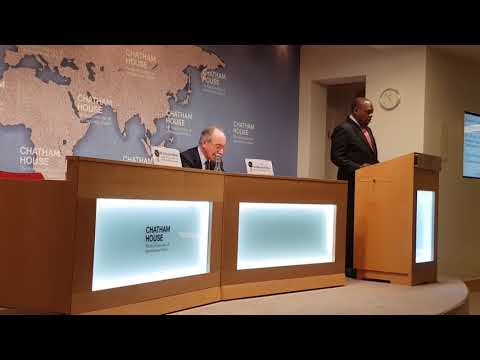 Minister of Foreign Affairs and International Trade  Dr SB Moyo at Chatham House