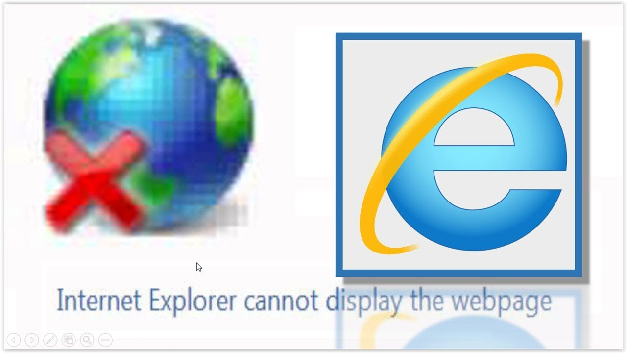 This page cannot be displayed - How to repair internet explorer error