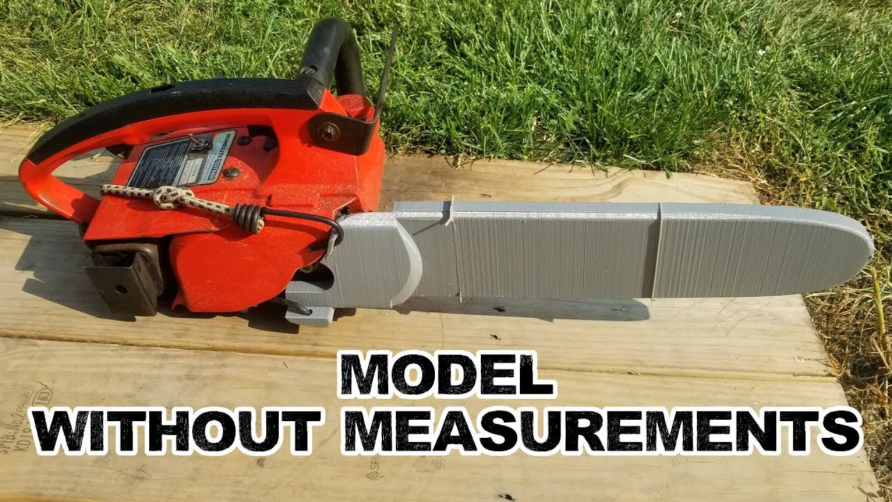 3D Modeling without specific measurements (Chainsaw Scabbard Homelite Super  2)