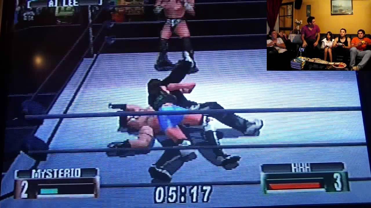 Aj Lee vs Rey Mysterio vs Triple H / Campeonato WWE - YouTube