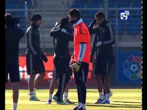 Real Madrid have finished their last training session before hosting Ajax