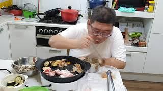 #돼지고기혼밥족 아침에  배가고파서  대패삼겹살  먹어…