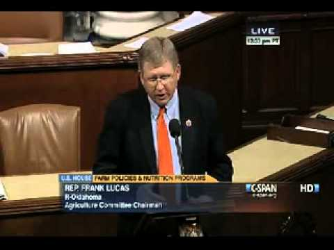House Agriculture Committee Chairman Frank Lucas Speaks on House Floor on Farm Bill