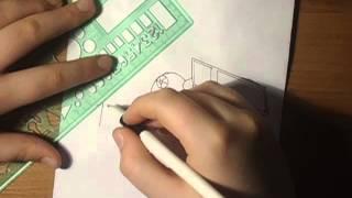 Как нарисовать космический корабль из фильма звёздные войны №9