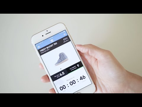 Attempting to Reserve the Yeezy 750 on the adidas Confirmed App