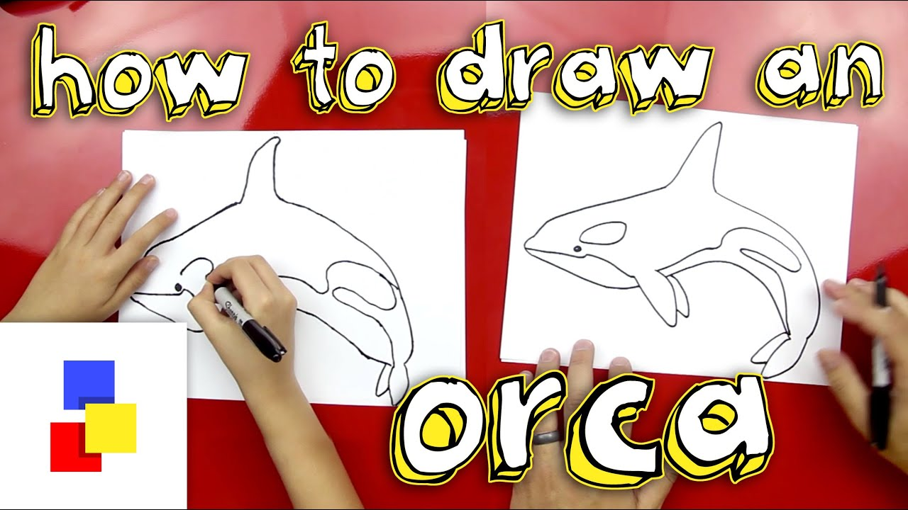how to draw a killer whale youtube