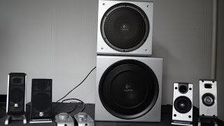 Logitech Z3e vs Logitech Z-2300 [big bro] system bass-sound test