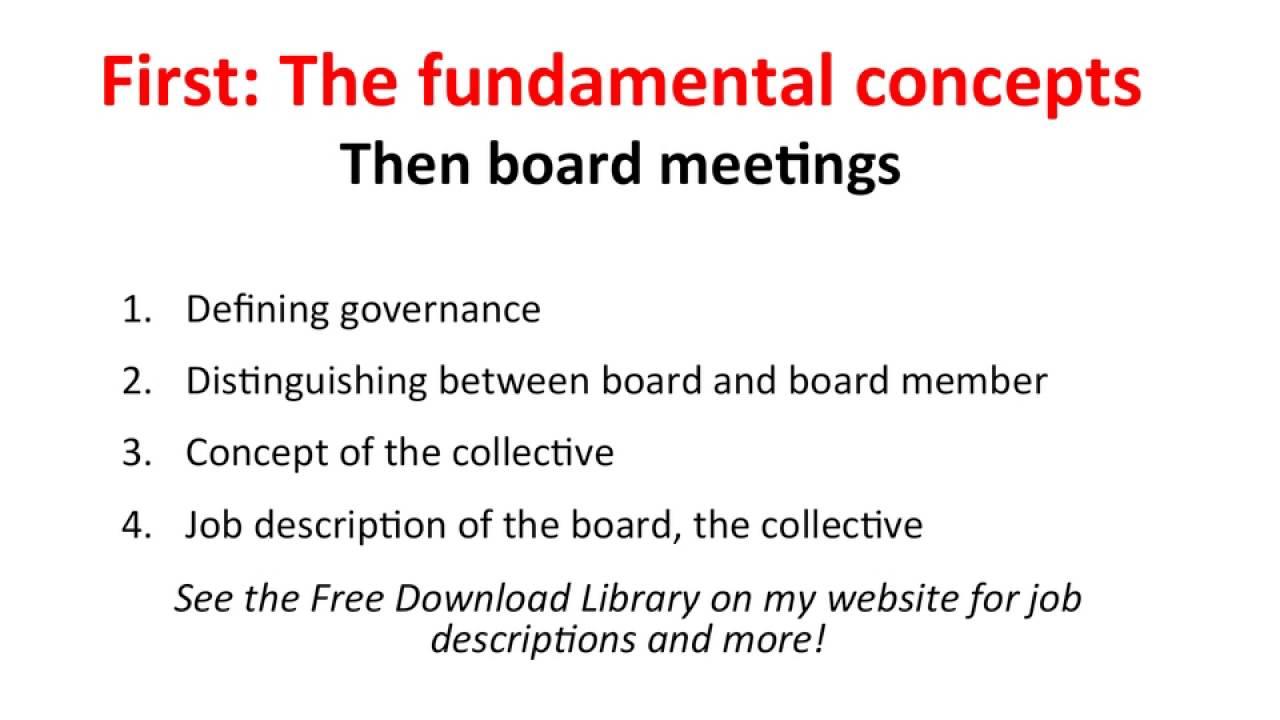 Ensuring Effective Nonprofit Board Meetings