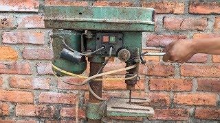 Відновлення Вертикальний Свердлильний Верстат | Відновити Старий Іржавий Стовп Свердла