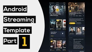 Movie Streaming Template App part1: Automatic Slider | Android Studio Tutorial
