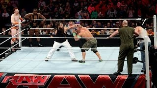 john cena sheamus big e vs the wyatt family raw april 7 2014