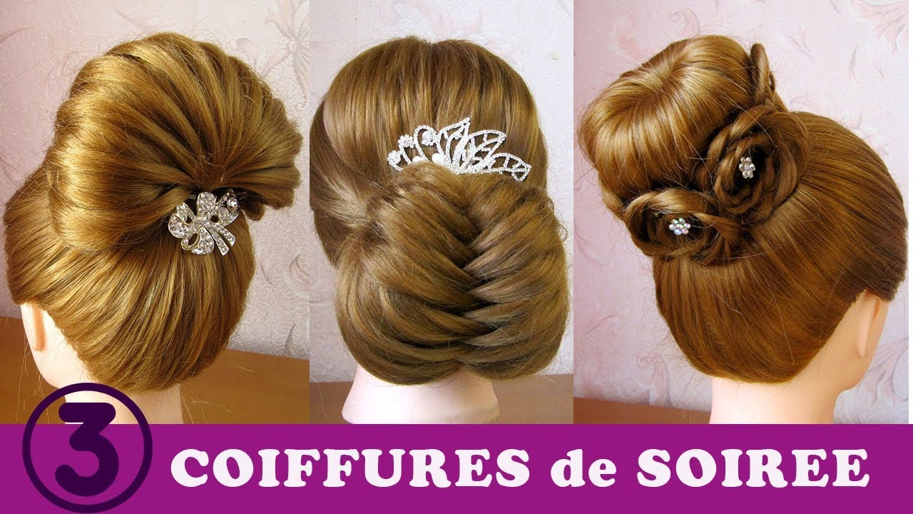 Tuto Coiffures De Soiree Mariage 3 Chignons Simples Cheveux Longs Facile A Faire Youtube