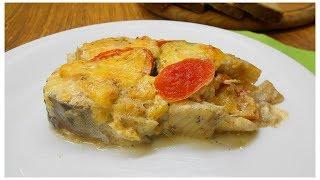 Вкусная рыбка под томатно сырным соусом.Будет сыта вся семья!