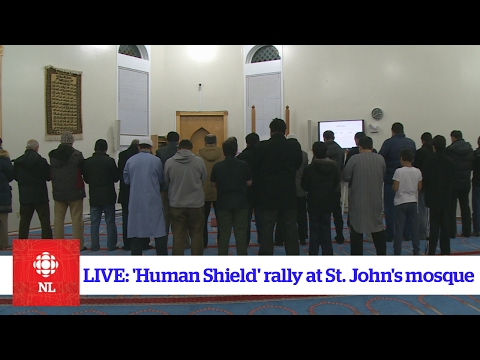 """Human shield' at Masjid-an-Noor mosque in St. John's"