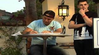 Bret Hart Diary: Bret Hart sketches a drawing for the