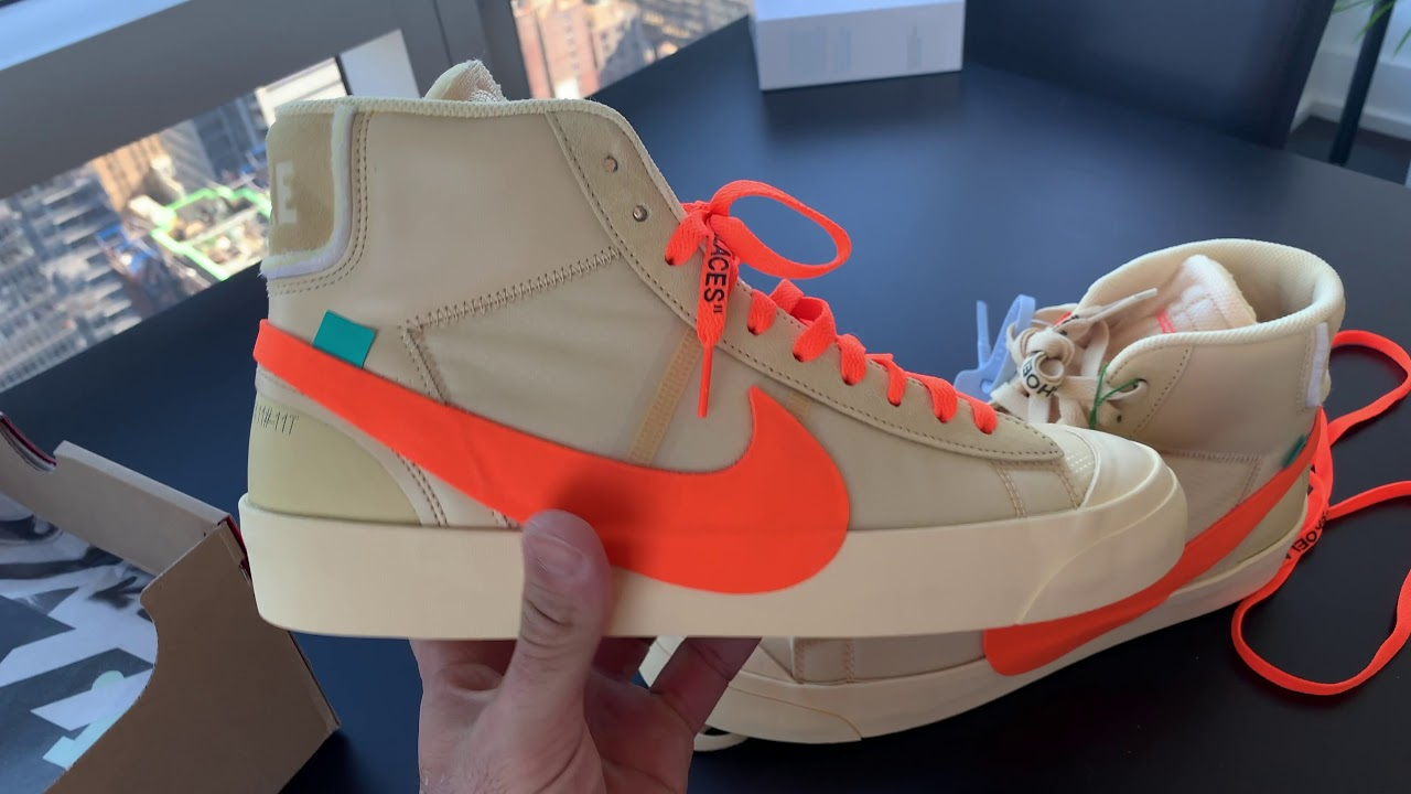 2ae865f5f96a7 WOW- ORANGE LACE SWAP FOR ALL HALLOWS EVE OFF WHITE NIKE BLAZER FROM THA  SPOOKY PACK