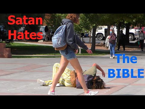 The Serpent is TORMENTED by the Word of God **College Campus Preaching**