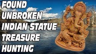 I found unbroken statue underwater river treasure hunting