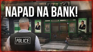GTA V POLICE MOD  NAPAD NA BANK!   LSPDFR   ViniPlay
