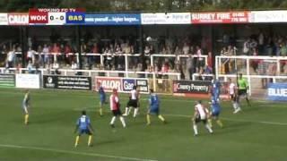 (11/09/10) Woking 2-0 Basingstoke Town (Match Highlights)