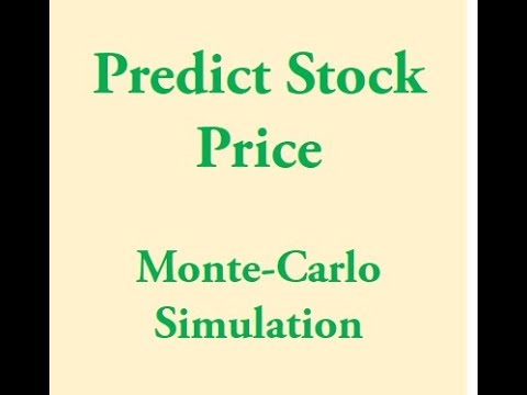 Predicting Stock Price Movement using Monte Carlo Simulations
