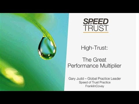 Trust: The Performance Multiplier