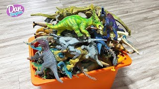 100 Dinosaurs In A Box! Learn Dinosaur Names for Kids with Dinosaur Toys