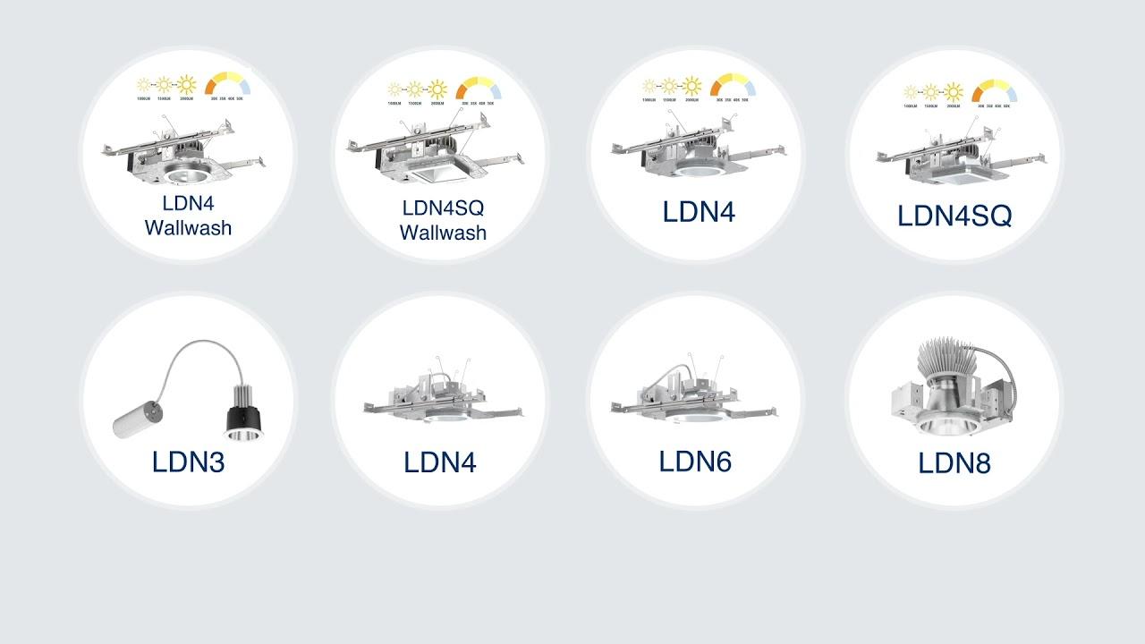 "LDN4 Round Series - LDN4 Round – 4"" Open and Wallwash"