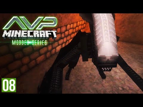CAPTURING A XENOMORPH FOR OUR LAB   Minecraft AVP (Alien VS Predator Part 8)