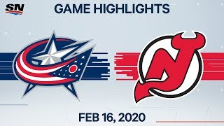 NHL Highlights | Blue Jackets vs Devils – Feb. 16, 2020
