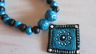 diy m seal necklace tutorial how to make square shaped m seal pendant