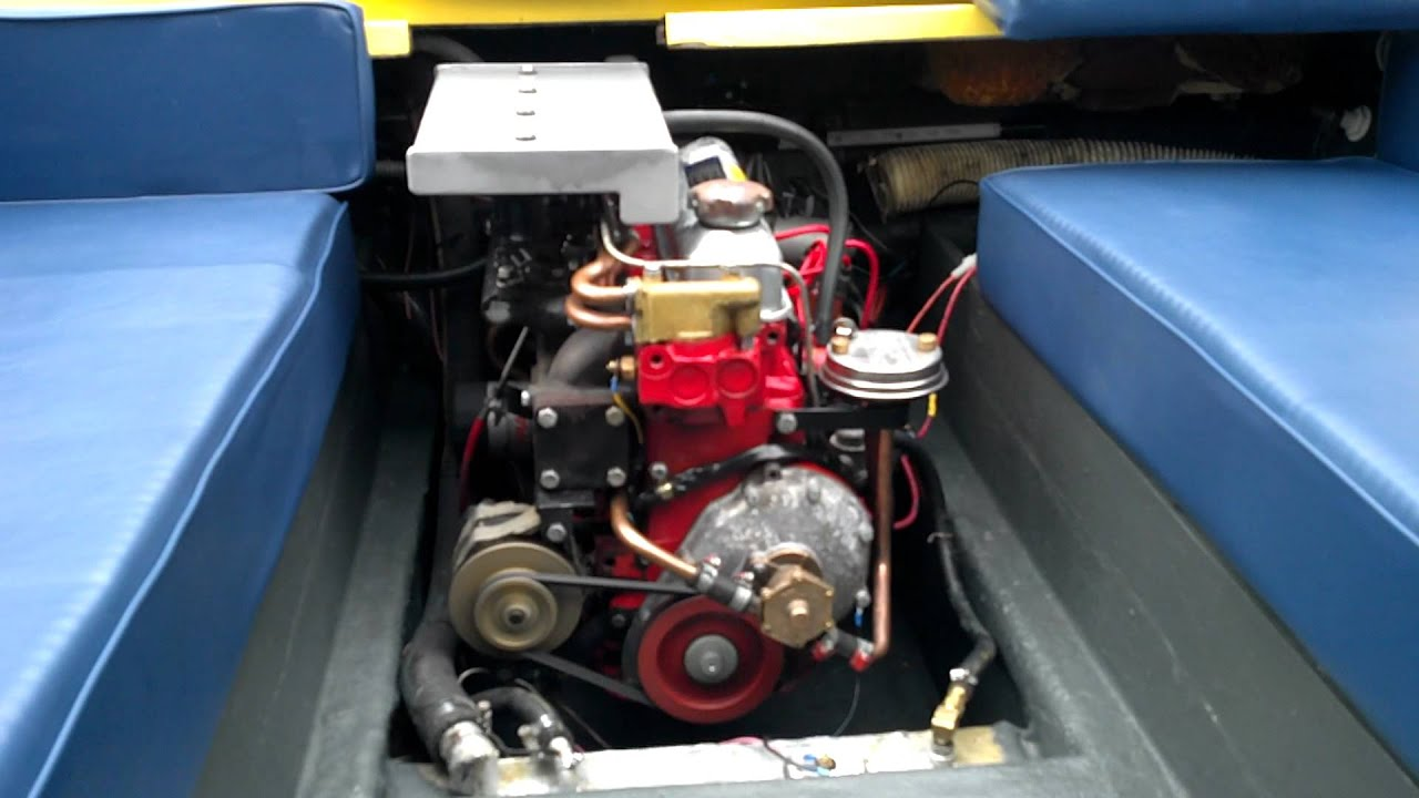 Volvo Penta AQ130D engine 280 outdrive - YouTube