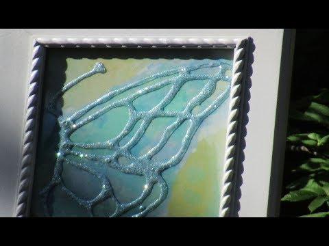 Decoupaged Butterfly Watercolor Hack DIY