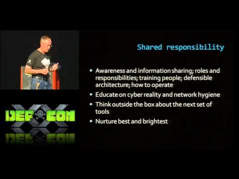 DEF CON 20 - General Keith B. Alexander - Shared Values, Shared Responsibility