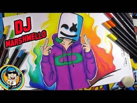 Como desenhar  DJ Marshmello  #ARTEECIABRASIL