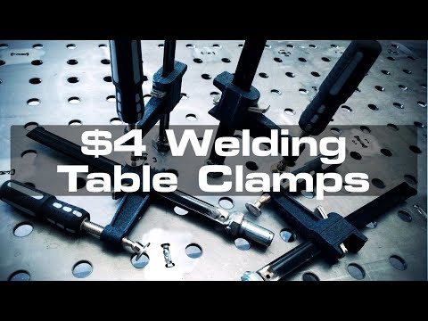 $4 DIY Welding Table Clamps