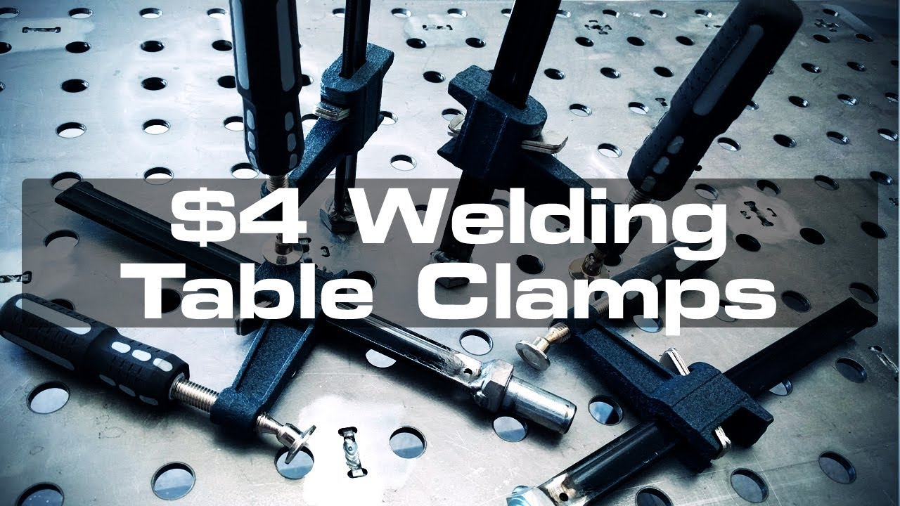 4 Diy Welding Table Clamps Youtube