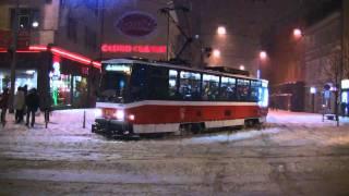 Pražské tramvaje - Sněhová kalamita - úterý 1.12.2010 @ HD 1080p